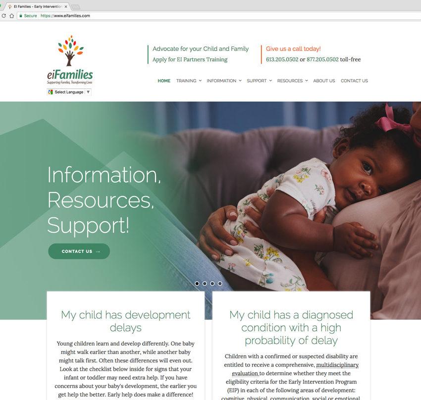 eiFamilies website